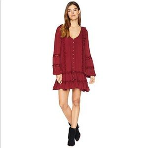 Free People burgundy Dress